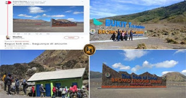 Kritik Keras Netizen Terhadap Tugu Bromo