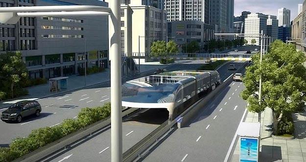 Kerennya Bus 3D Anti Macet Dari Cina