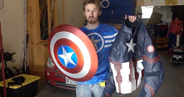 Seorang YouTubers Mampu Menciptakan Tameng Asli Captain America