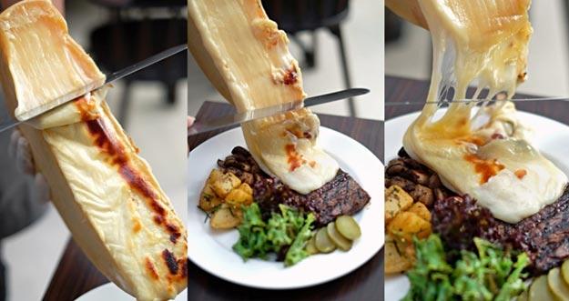 Nikmatnya Steak Dibalut Dengan Keju Raclette