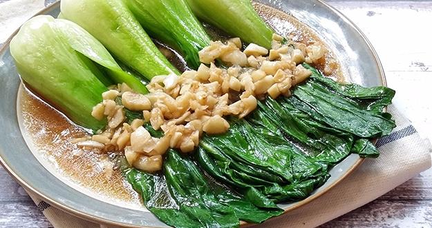 Resep Tumis Pokcoy Bawang Putih Saus Tiram