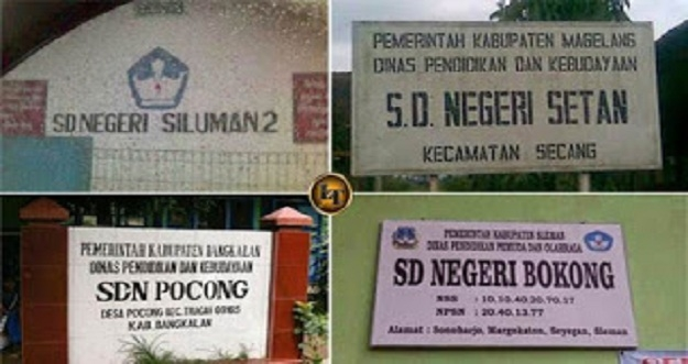 7 Nama Sekolah Dasar Paling Nyeleneh di Indonesia