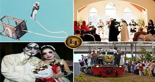 9 Foto Resepsi Pernikahan Paling Unik
