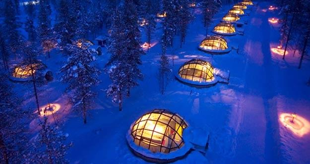 Menikmati Indahnya Aurora di Hotel Igloo Kakslauttanen