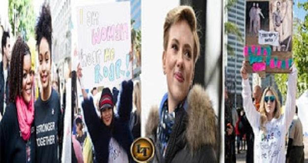 10 Artis Seksi Ikut Ramaikan Demo Protes Anti Trump