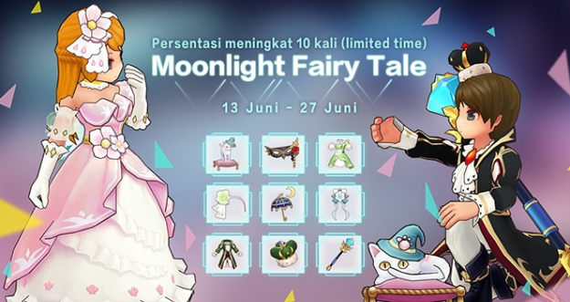 Set Gacha Kostum Moonlight Fairy Tale - Ragnarok M: Eternal Love