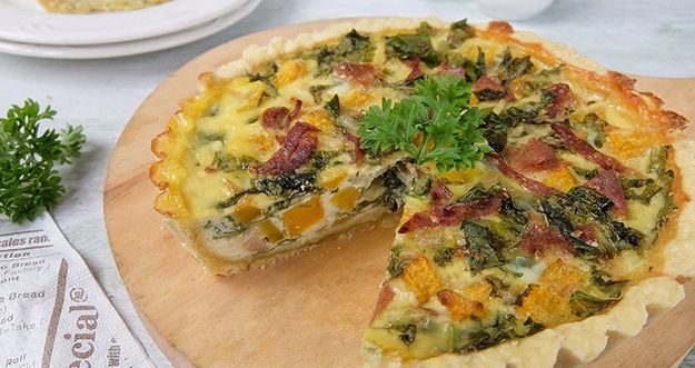 Resep Sarapan Pie Omelet Bayam