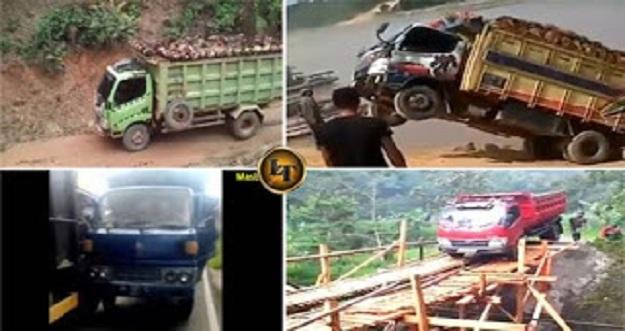 5 Aksi Konyol Supir Truk Paling Berbahaya Dan Menantang Maut Di Indonesia