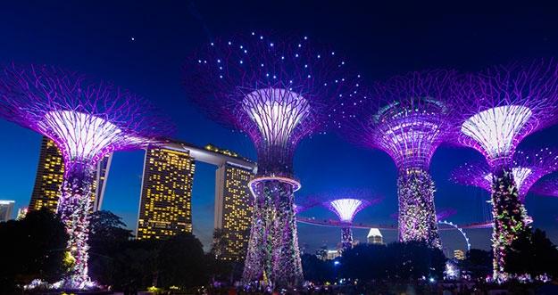 Indahnya Kelap-Kelip Lampu Di Gardens by The Bay, Singapura