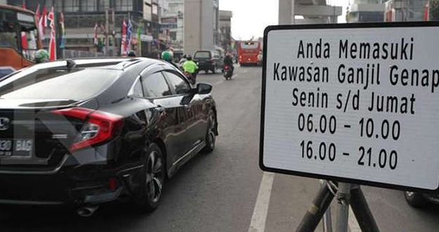 13 Kendaraan Bebas Ganjil Genap di Jakarta