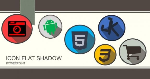 Tutorial Membuat Logo atau Icon Flat Shadow Pada PowerPoint