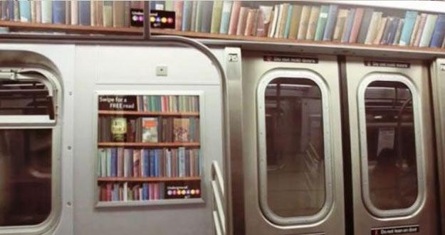 Uniknya Ide Perpustakaan Di Kereta Bawah Tanah New York